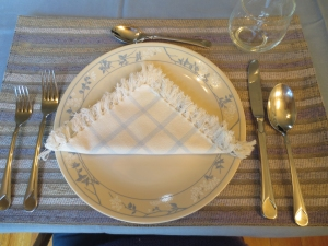 Hanukkah placemat setting