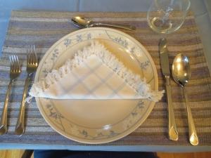 Hanukkah placemat setting