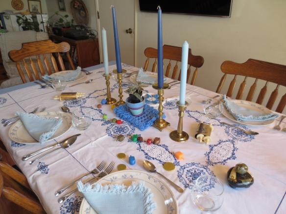 Hanukkah table set