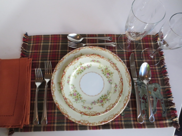 Xmas placemat setting