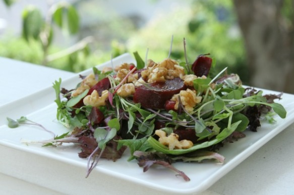 Beet and Pomegranate Seed Salad pic3
