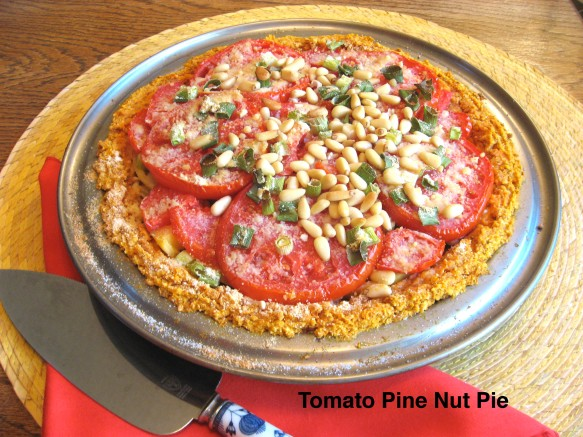 Tomato Pine Nut Pie Summer