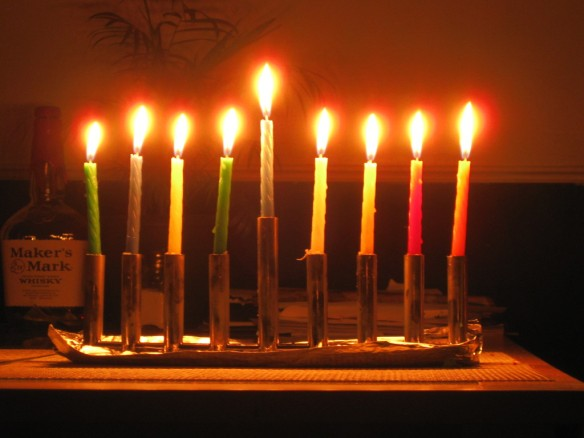 Lighted Menorah