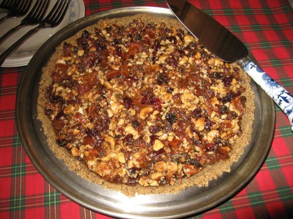 Apricot Date Hazelnut Sticky Pie 1