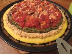 polenta w:tomato sauce
